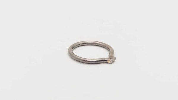 titanium 14k gold ring